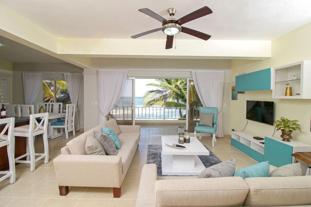 Oceanfront 3 bedrooms apartment for sale cabarete